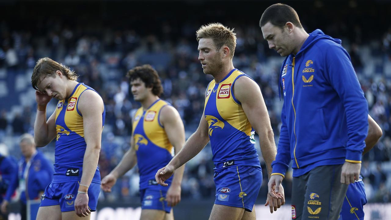 The Eagles have been hit hard by injury this season. (Photo by Daniel Pockett/AFL Photos/via Getty Images)