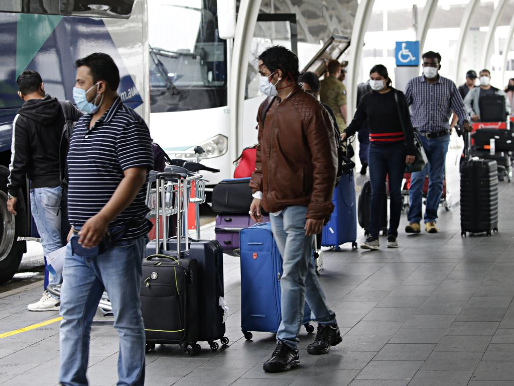 People arriving at Sydney Airport's international terminal in September. Picture: Adam Yip