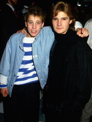 Corey Feldman (right) and Corey Haim in 1987.