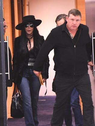 Cher, plus hat, in Sydney. Pic: Peter Rae/AAP