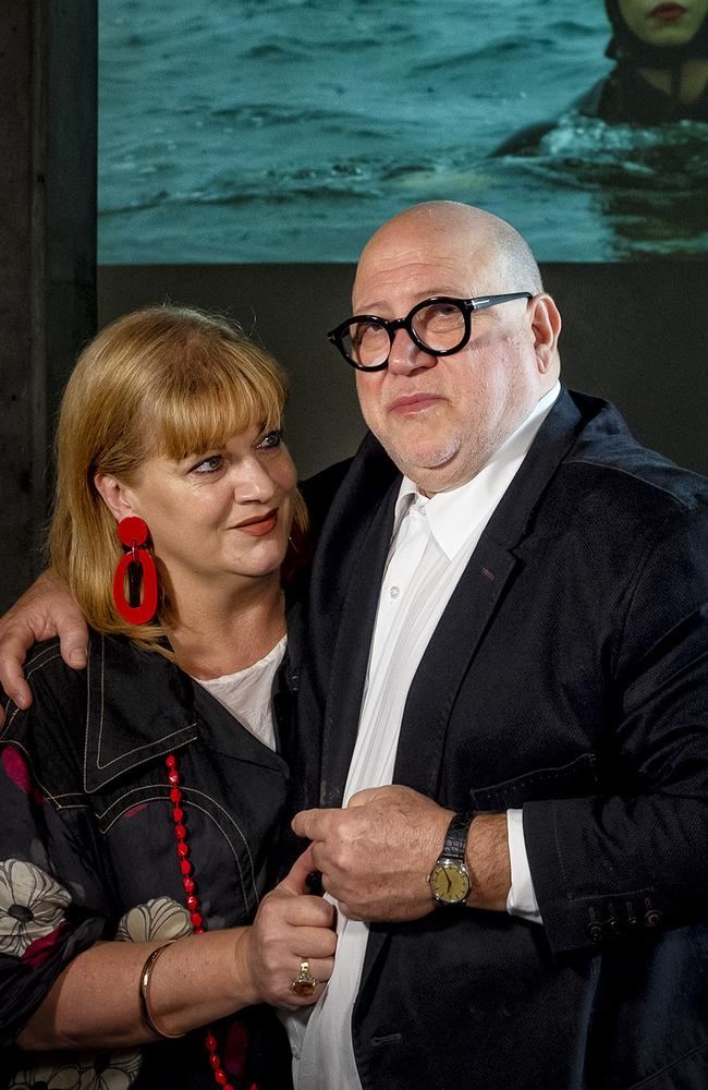 Photo of Ronnie Di Stasio with his partner Mallory Wall at their new restaurant Di Stasio Citta in Melbourne on Friday 8 February 2019.Photo Luis Enrique Ascui