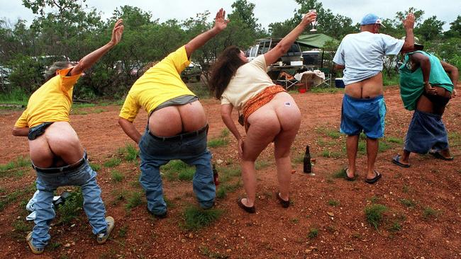 The annual 'great moon' at the Livingstone airstrip in the Northern Territory — where mooning remains legal.