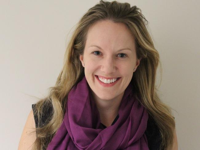 Julie McKay wearing the Espirit scarf.