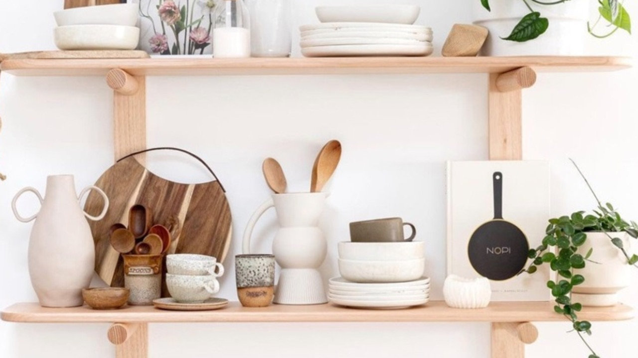 Shelves are a great way to create extra storage and a focal point to display ornaments. Picture: PLANK