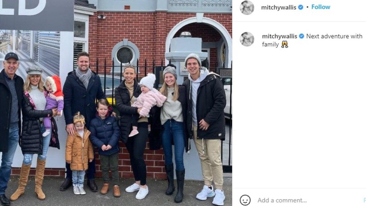Mitch Wallis's celebratory Instagram post.