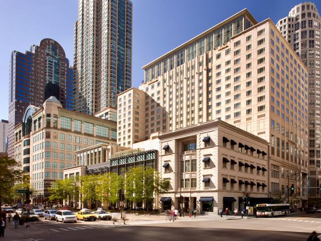 """UNITED STATES OVERNIGHT RATE, FROM $560: Book a room at five-star Peninsula Chicago 15 days or more in advance and get 20 per cent off the best available rate. Pay from $560 a night and get access to the fitness centre with 30 free fitness classes a week and indoor swimming pool, plus enjoy the in-room Nespresso machine, access to the """"Keys To The City"""" program offering with exclusive experiences at Chicago's best attractions and free Wi-Fi. Price based on conversion at time of publication. peninsula.com/en/chicago"""