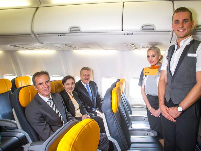 Tigerair Australia shows off its first international aircraft - a 737-800 that will fly between Melbourne and Bali