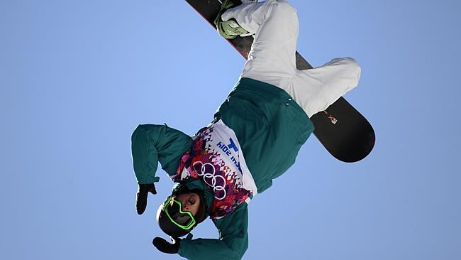 Scotty James reaches rare air during the slopestyle semi-final. Picture: Javier Soriano.