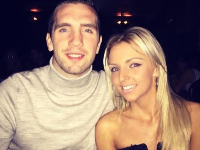 Shane Duffy and his girlfriend Catherine Carlin.