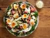 Sabich Israeli salad with tahini yoghurt