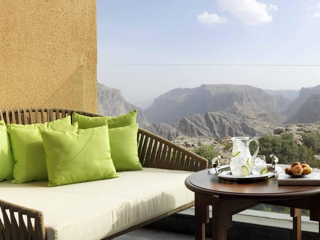 ANANTARA AL JABAL AL AKHDAR RESORT Of course, the Middle East is also home to some pretty posh digs as well. Oman, one of the most fascinating of the Gulf States, is no slouch in this department, with the Anantara Al Jabal Al Akhdar Resort leading the field. Situated two hours' drive from the capital of Muscat, the resort offers supreme canyon views from its elevated footing.