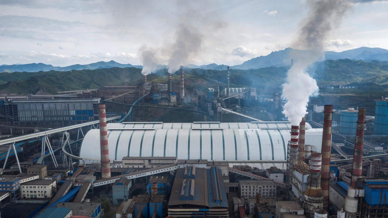 A steel factory in Chengde, China's northern Hebei province. Picture: Fred Dufour/AFP