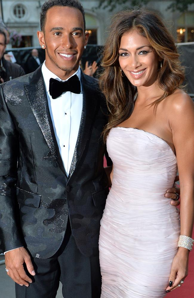 In happier times ... singer Nicole Scherzinger has split from Formula One champion Lewis Hamilton. Picture: Anthony Harvey/Getty Images