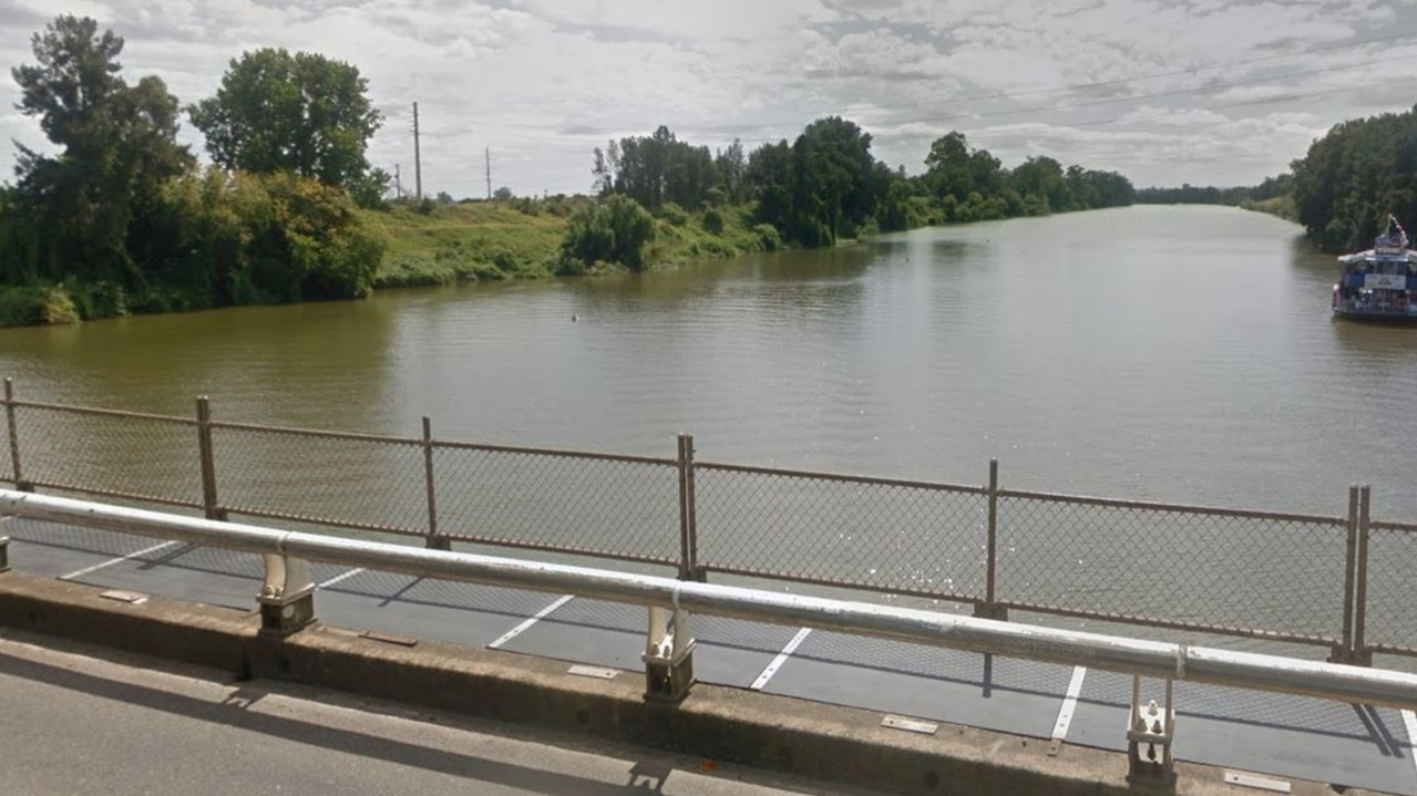 The bridge at Windsor from where a 19-year-old woman was allegedly thrown into the Hawkesbury River.