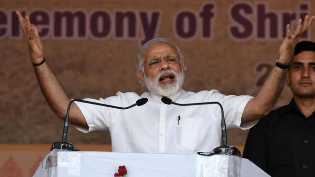 India's Prime Minister Narendra Modi says India is being made to face the consequences of more affluent nations' inability to address climate change.