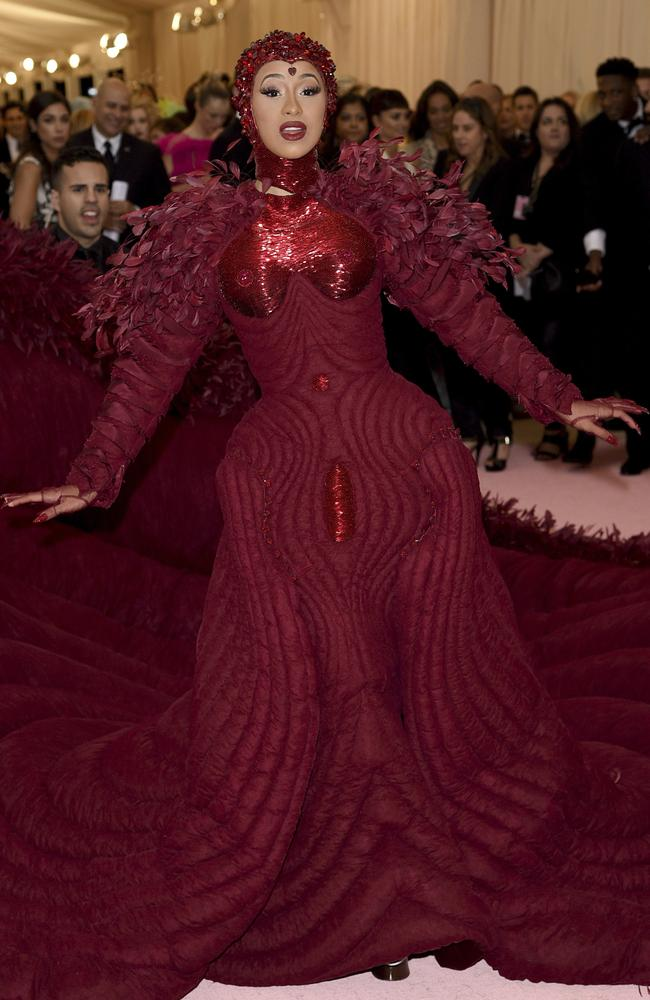 Cardi B was among the fashion world's elite at the Metropolitan Museum of Art's Costume Institute benefit gala in New York this week. Picture: AP