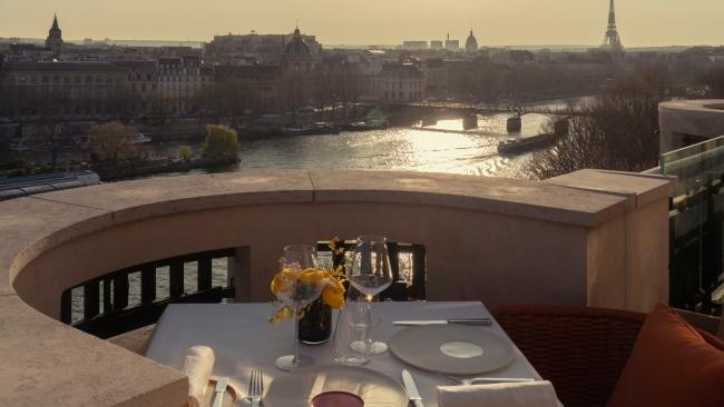 10/15 Cheval Blanc Paris, France In case anyone needed another reason to visit Paris, here it is. The Cheval Blanc opened this month, injecting modern luxury to a heritage building on the banks of the Seine next to the city's oldest bridge, the Pont Neuf. Inside you'll find marble bathrooms, a Dior Spa, fine dining and a glamorous pool, but really, it's all about the views. Each room has either large bay windows or a balcony overlooking the river, city skyline or the Louvre.