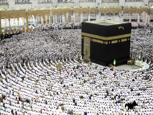Muslim worshippers pray at the Kaaba, Islam's holiest shrine, at the Grand Mosque in Saudi Arabia's holy city of Mecca. Picture: AFP