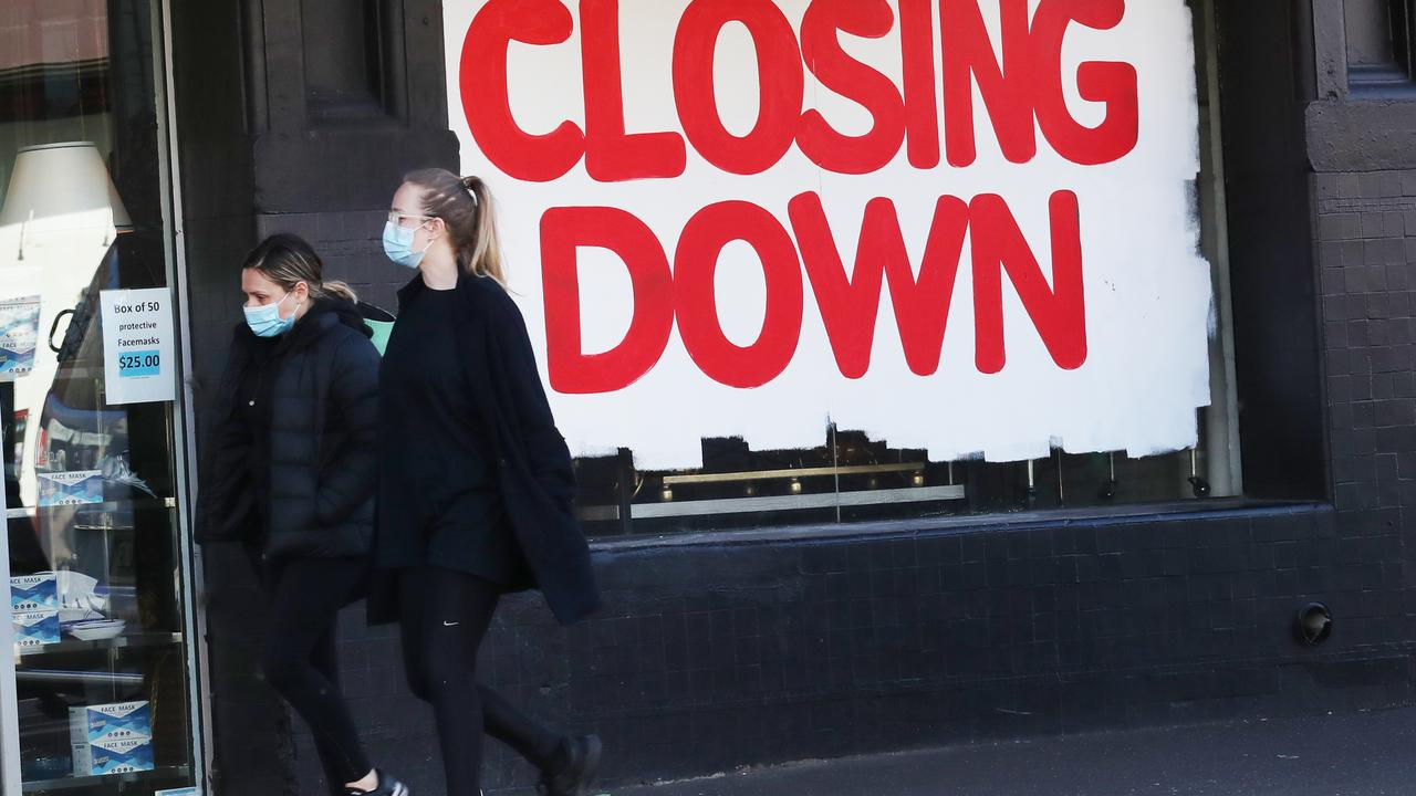 More than 5000 businesses are on the brink of collapse. Picture: David Crosling/NCA NewsWire
