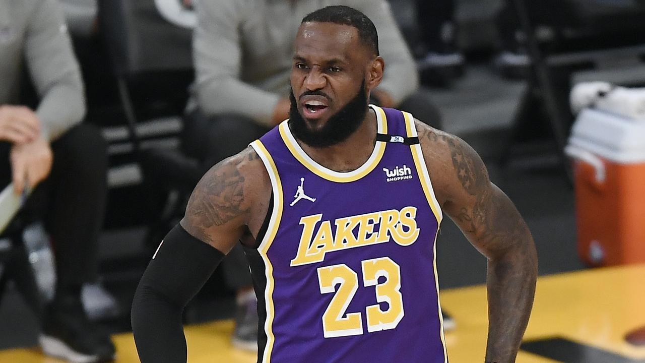 LeBron James will miss a third consecutive match for the Lakers ahead of the playoffs. Photo: Getty Images
