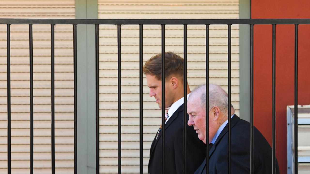 Jack de Belin arrives at Wollongong Courthouse for trial. Picture: NCA NewsWire / Simon Bullard