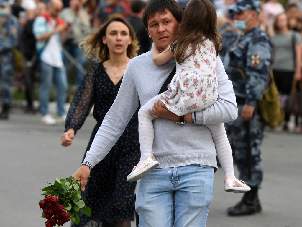 Russian Prime Minister Mikhail Mishustin spoke of 'great sorrow' as Putin offered his condolences. Picture: Natalia Kolesnikova / AFP
