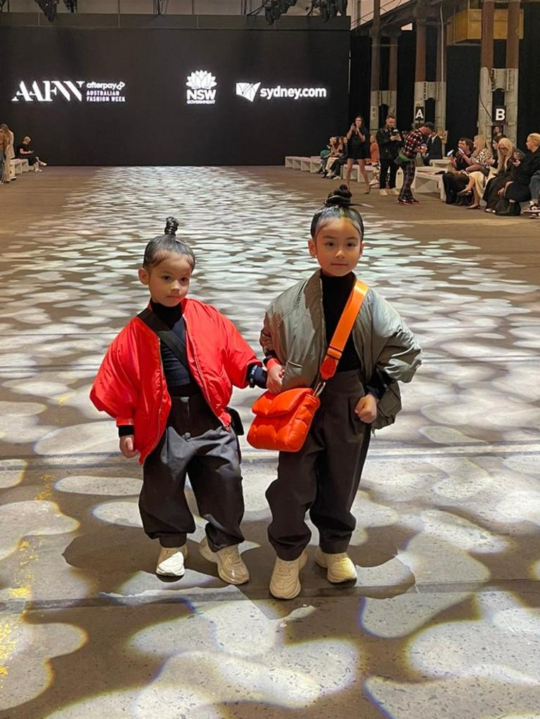 The pair stole the show, sitting front row at an event. Picture: Supplied