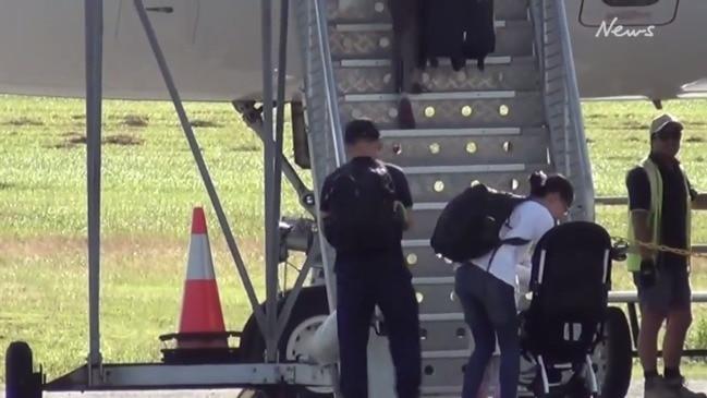 Evacuees leaving Christmas Island