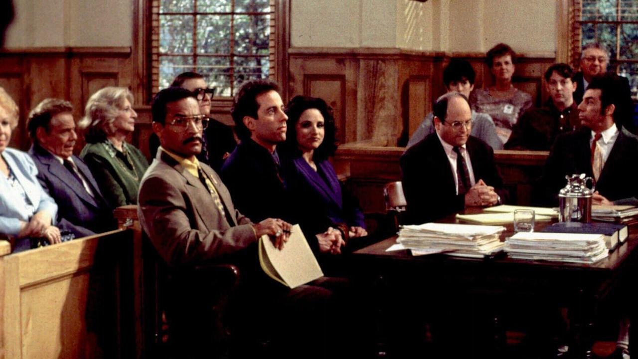 The taping of the final episode of Seinfeld which aired in 1998. Picture: AP Photo/NBC/Joey Del Valle