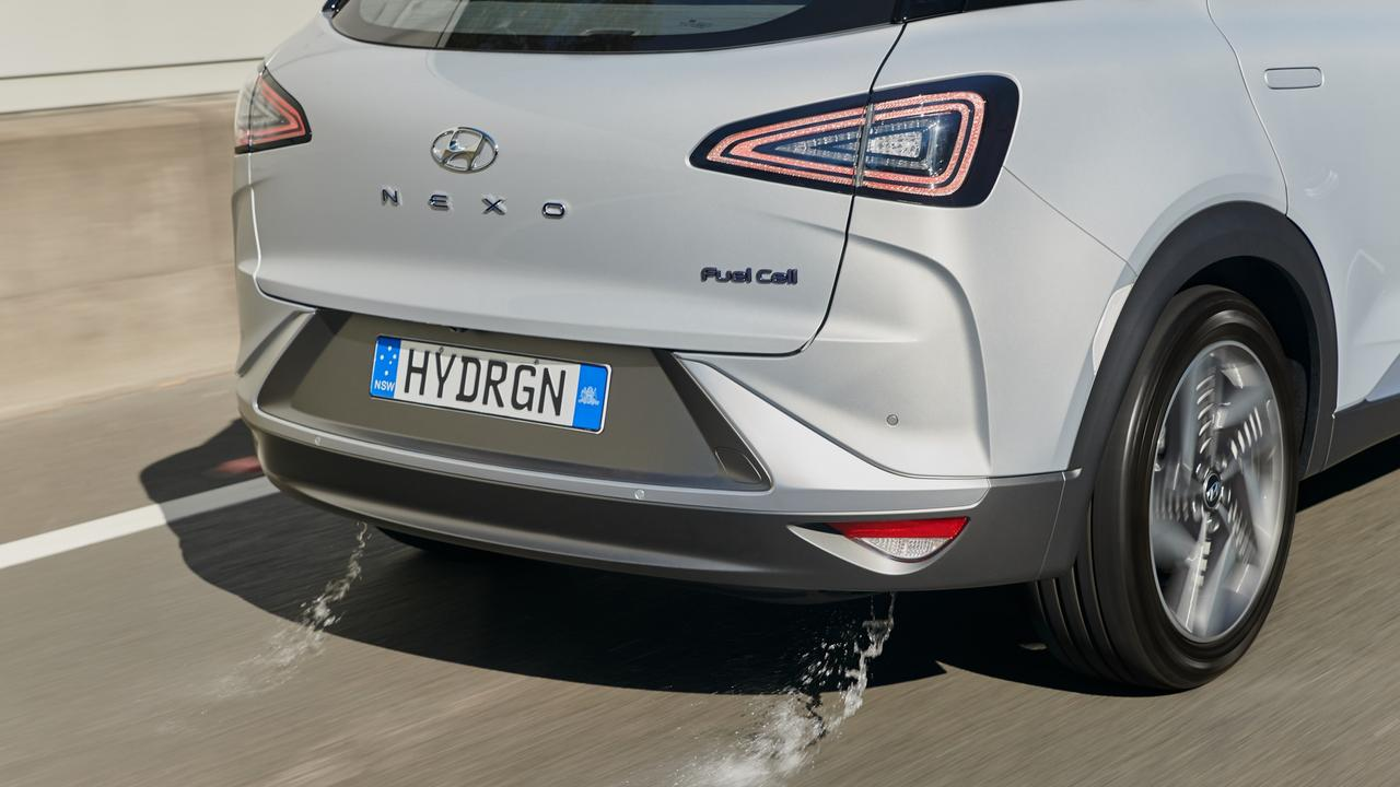 The only emission from a hydrogen fuel cell vehicle is water.