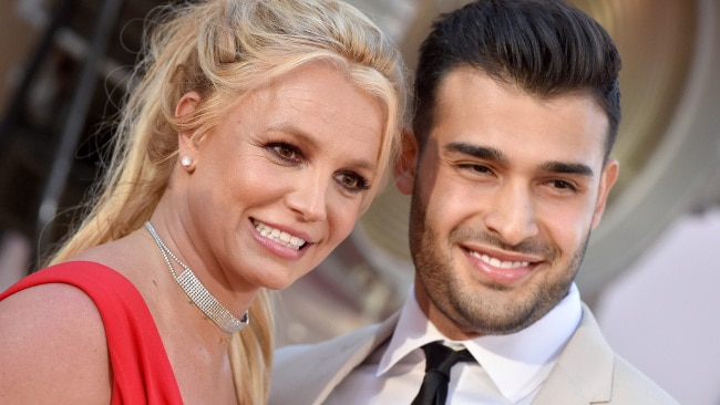 Spears and Asghari (pictured together in 2019) first started dating in 2016 after meeting on the set of her Slumber Party video. Picture: Getty Images