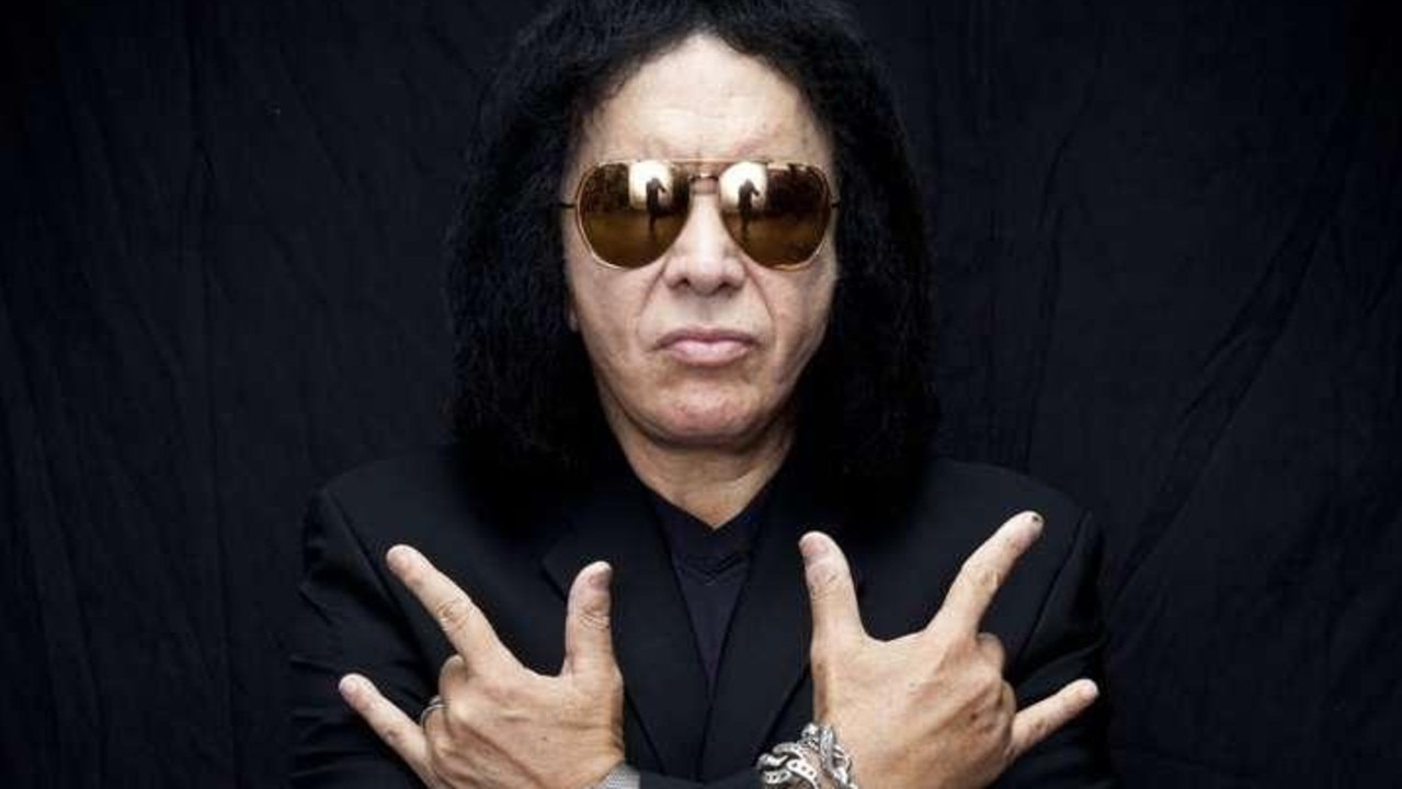 KISS bass player Gene Simmons is feuding with former guitarist Ace Frehley. Picture: Supplied