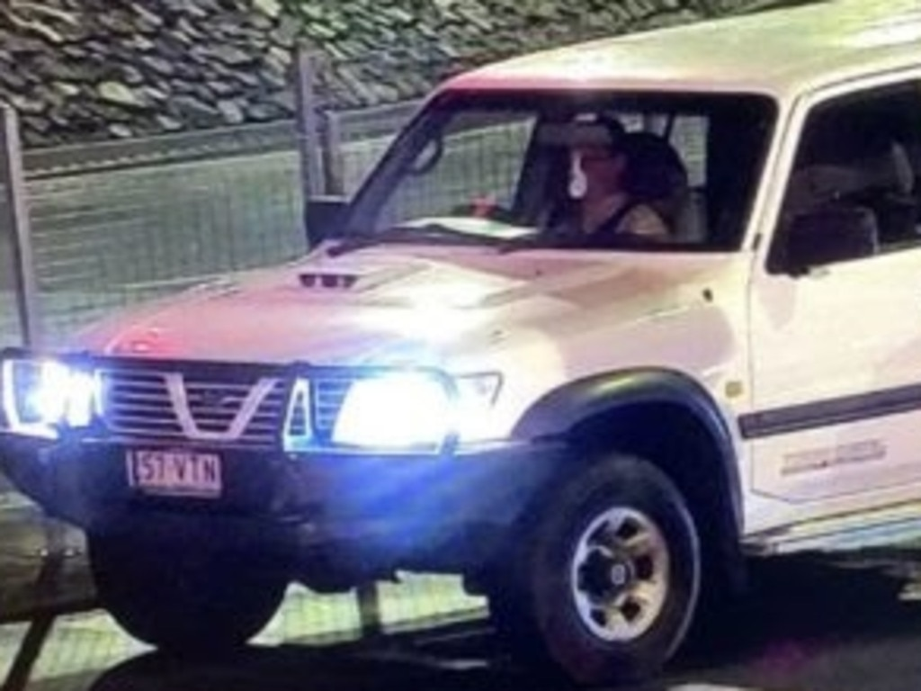 A CCTV still shows missing woman Amy Schulkins behind the wheel of a Nissan Patrol on the night she went missing. Picture: Supplied / QPS