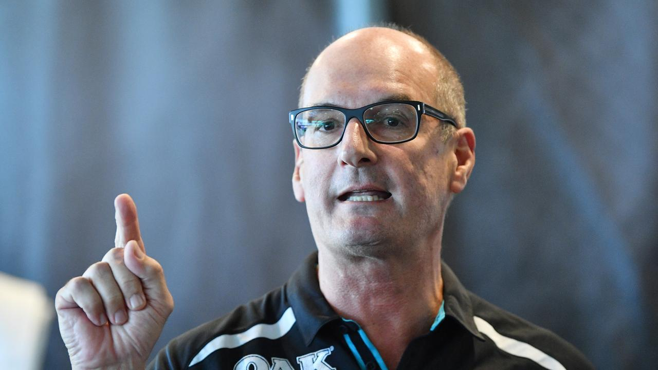 David Koch has vowed to keep fighting for Port Adelaide's right to wear its traditional prison bar guernsey.