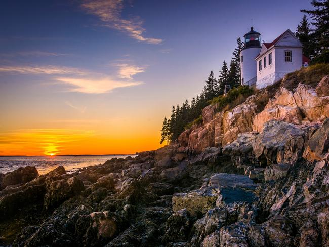 """4. MAINE, USA As it marks its bicentenary year in 2020, Maine is attracting travellers' attention with a host of special events. Yet, says Lonely Planet, """"despite Maine's growing popularity, it's easy to escape the crowds amid the state's vast forests and its dramatic, lighthouse-strewn coastline"""".Picture: AppalachianViews / Getty Images"""