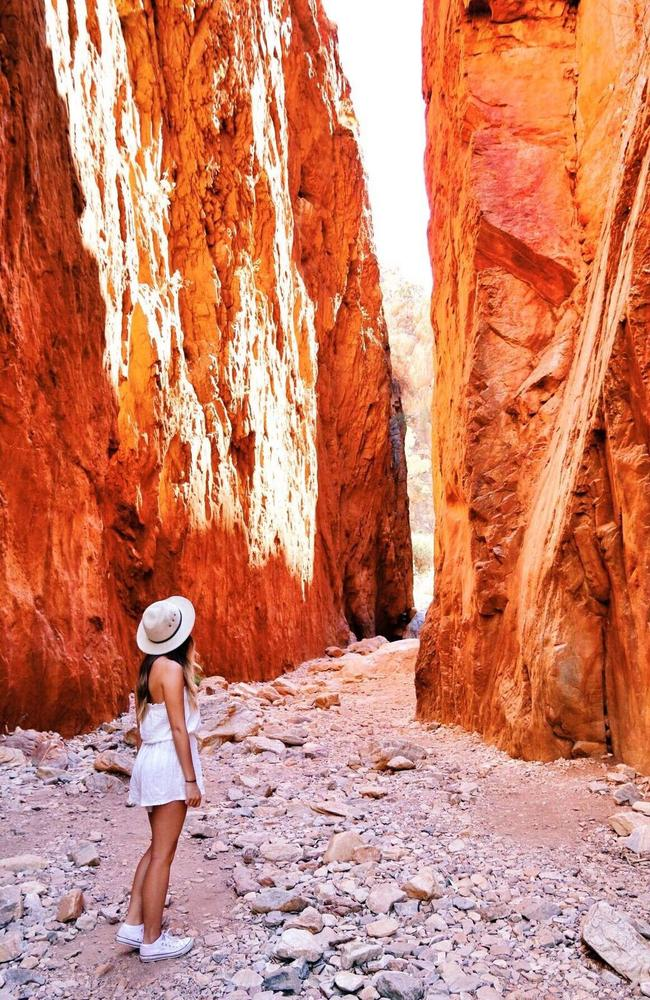 Standley Chasm is an important cultural place, as well as jaw-dropping to behold. Picture: Chloe Barry Hang