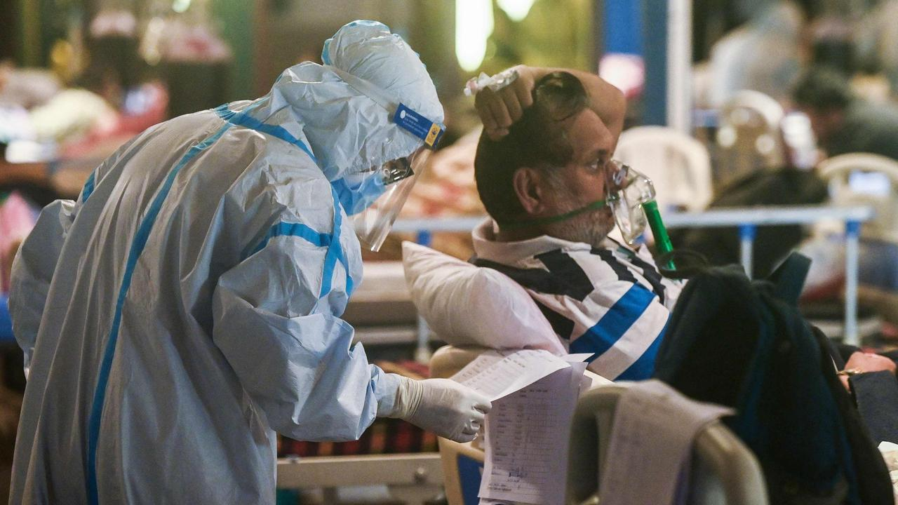 India reported more than 400,000 new cases of COVID-19 in the last 24 hours. Picture: Prakash Singh/AFP