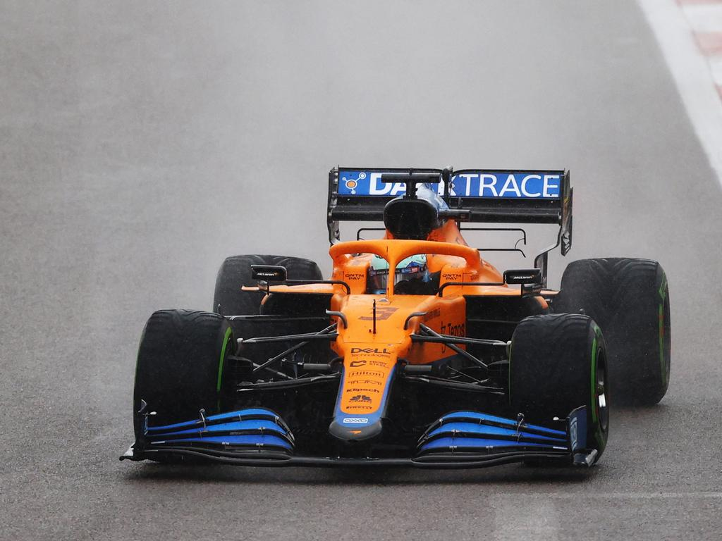 Ricciardo handled the wet conditions beautifully. (Photo by Bryn Lennon/Getty Images)