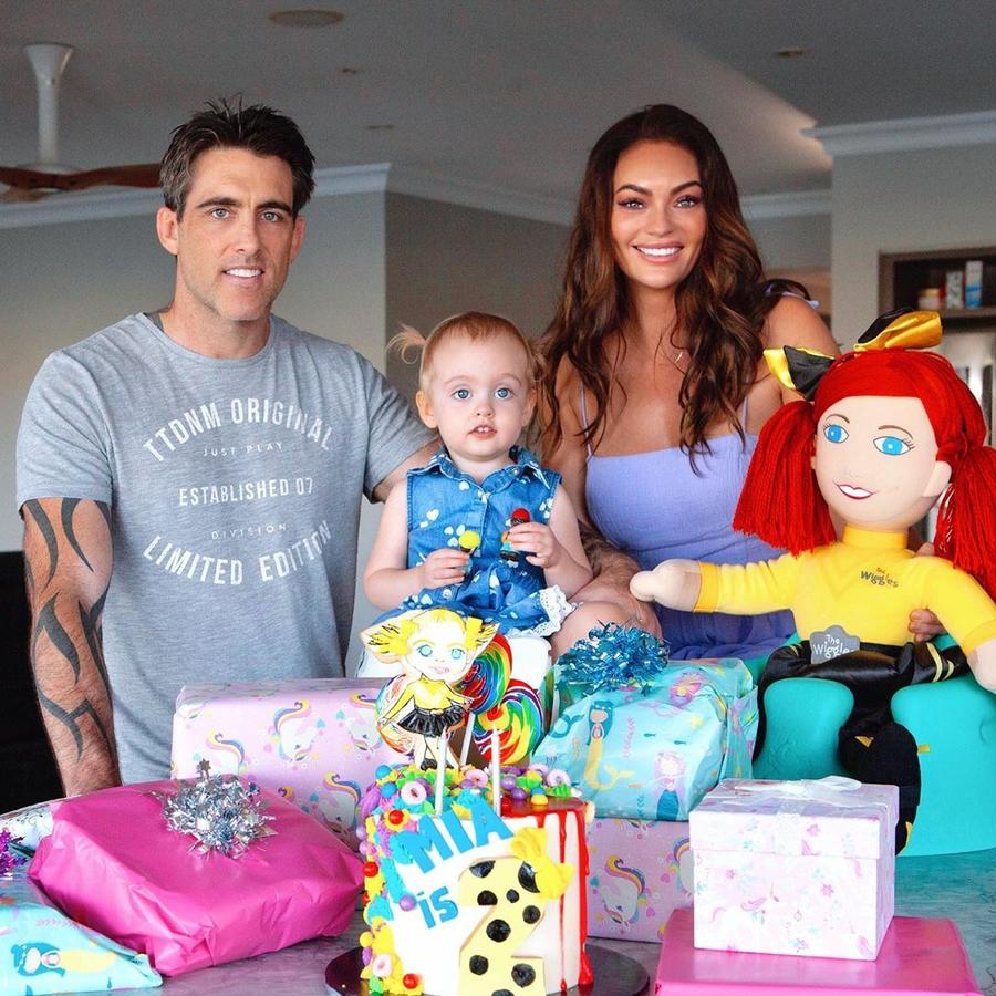 Emily and her husband Declan Redmond with their daughter Mia, who turned two in December. Picture: Instagram/ EmilySkye