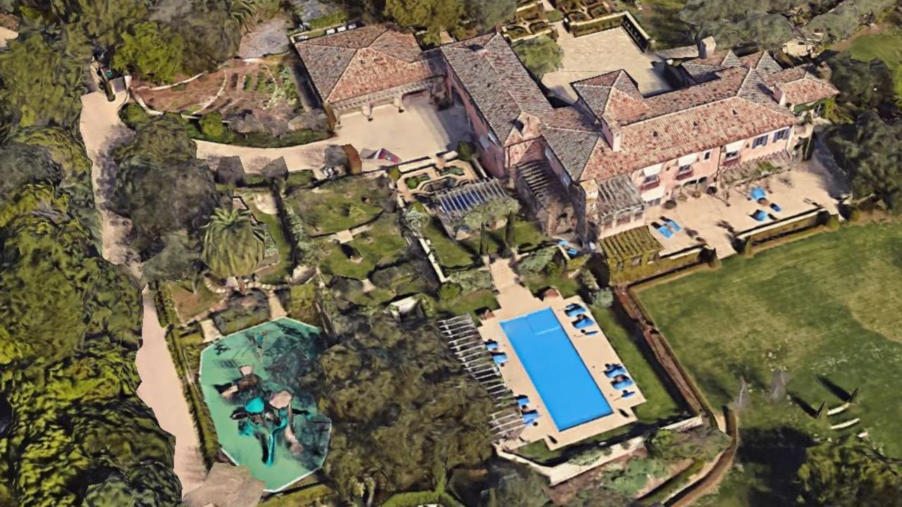 Prince Harry and Meghan Markle's Montecito estate. Picture: Google Maps