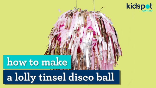 Take your party to the next level with this treat-filled tinsel ball.