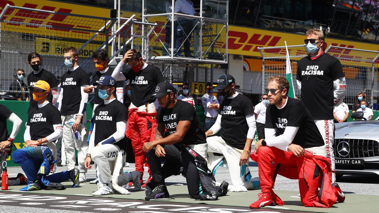 Six drivers remained standing.