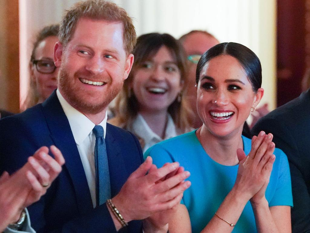 The Duke and Duchess of Sussex attend the annual Endeavour Fund Awards at Mansion House. Picture: Getty