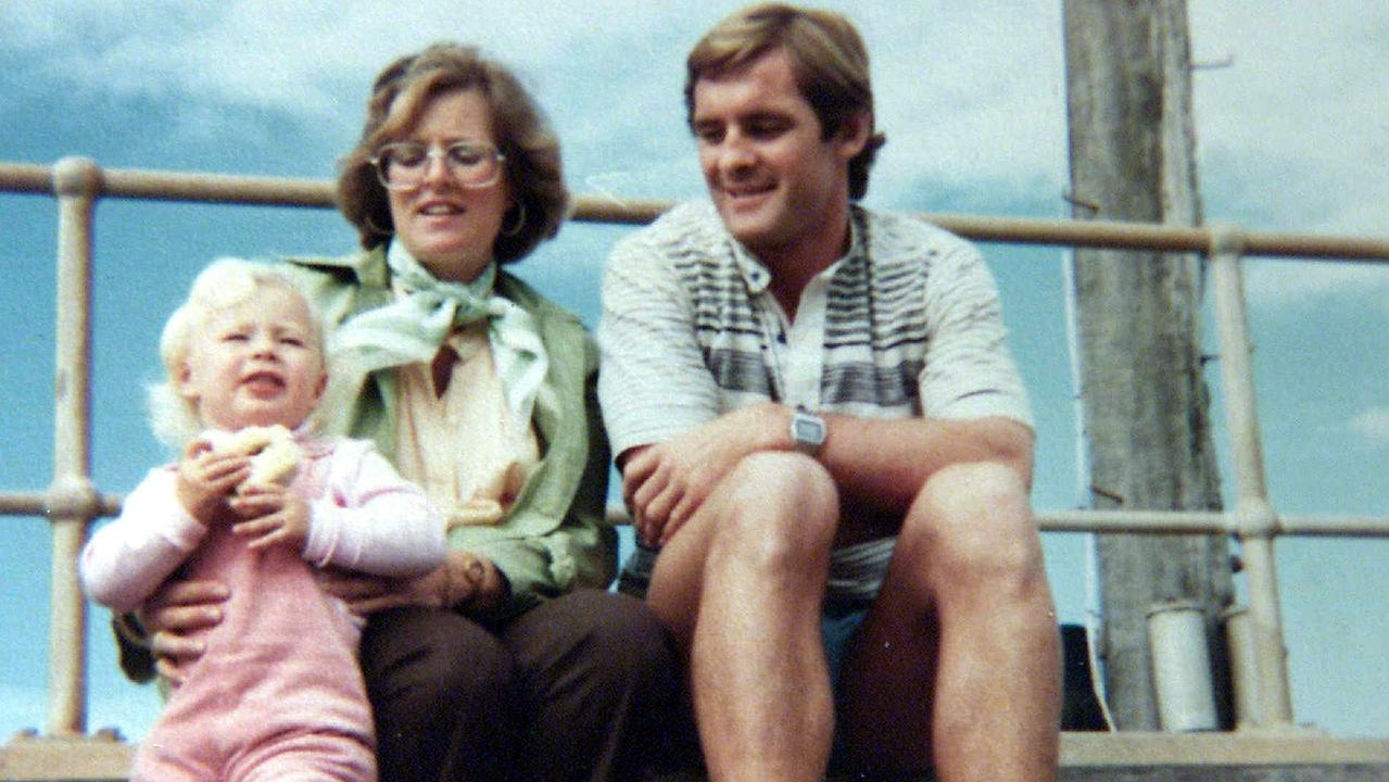 Lyn and Chris Dawson, above with one of their daughters, lived at Bayview in Sydney's north.