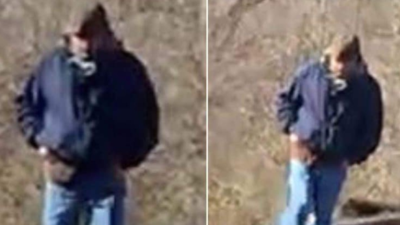 The man police suspect murdered Libby German, 14, and Abby Williams, 13, was filmed by Libby on her phone (above). Picture: Indiana State Police.