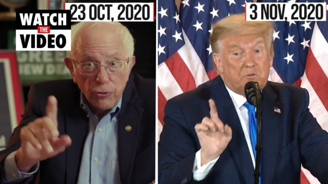 Bernie Sanders eerily predicts Trump's election night playbook