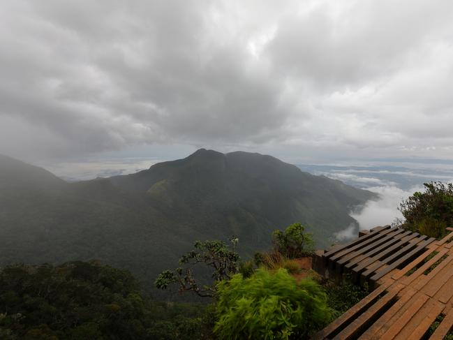 EDGE OF THE WORLD The highlands of Sri Lanka are filled with rainforest, sacred mountains, lush tea gardens, and grasslands filled with wildlife. A popular hike is up Horton Plains plateau to the 'World's Edge', a sudden 800-metre drop overlooking the countryside. — Candice Marshall