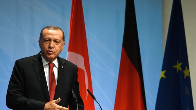 Turkey's President Recep Tayyip Erdogan has been angered by the decision. Source: AFP/ Patrik Stollarz.