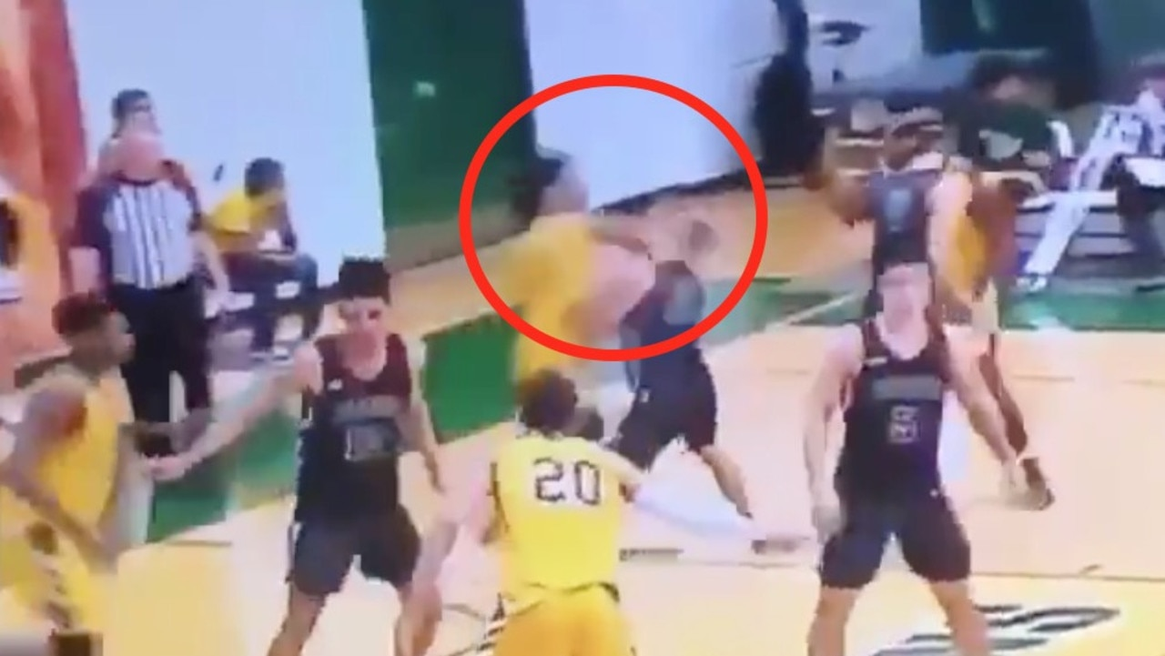 College basketballer hit with lean suspension after 'horrific cheap shot'