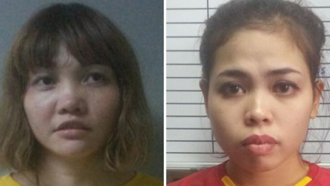 Doan Thi Huong of Vietnam (left) and Siti Ashyah of Indonesia are accused of assassinating Kim Jong-nam. Picture: AFP/Royal Malaysian Police